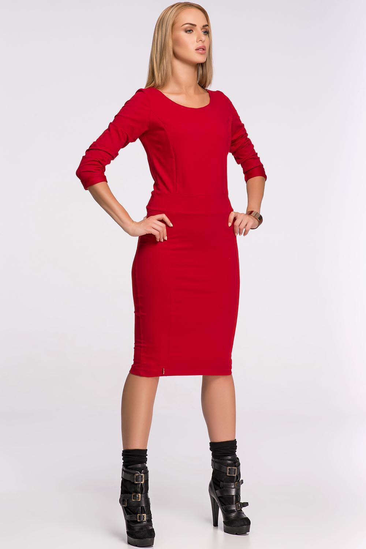 Dámské šaty M276 - Makadamia - Červená/44