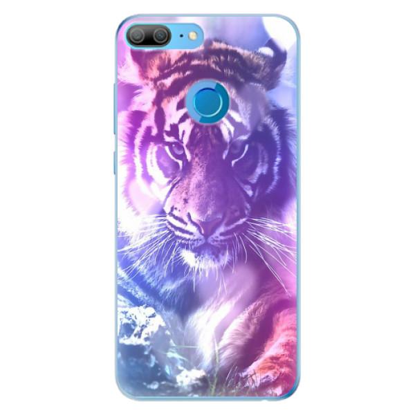 Odolné silikonové pouzdro iSaprio - Purple Tiger - Huawei Honor 9 Lite