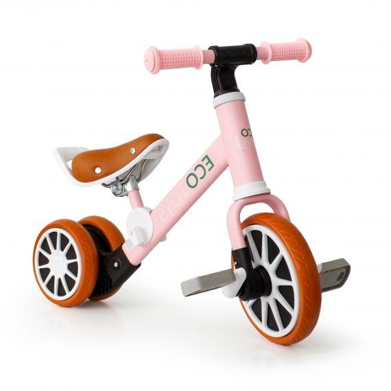 Eco toys Kolo, odrážedlo s pedály - růžové