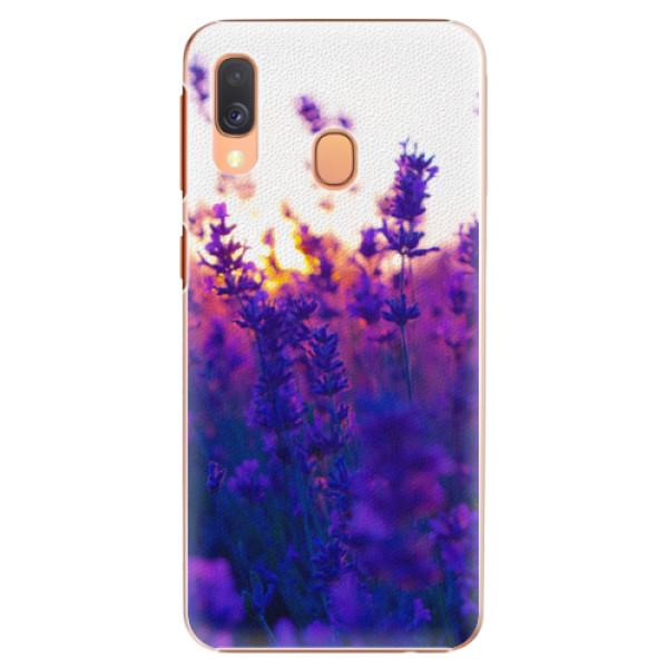 Plastové pouzdro iSaprio - Lavender Field - Samsung Galaxy A40