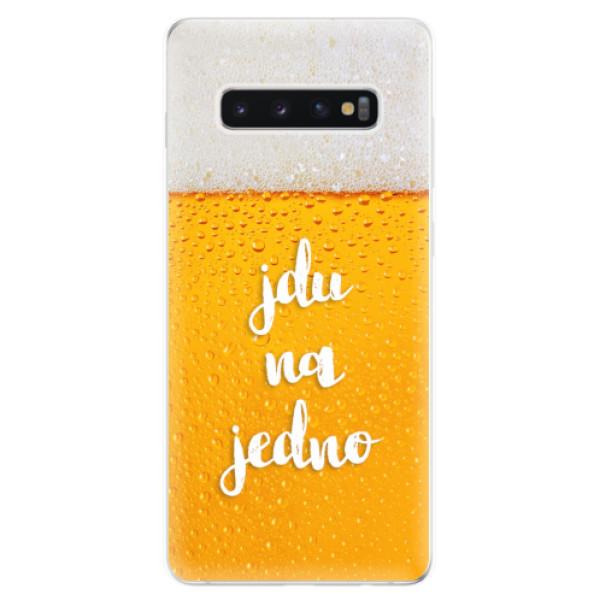 Odolné silikonové pouzdro iSaprio - Jdu na jedno - Samsung Galaxy S10+