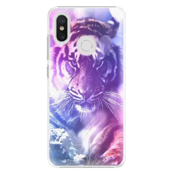 Plastové pouzdro iSaprio - Purple Tiger - Xiaomi Mi 8