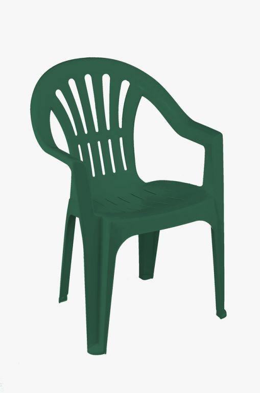 Židle nízká KONA - zelená