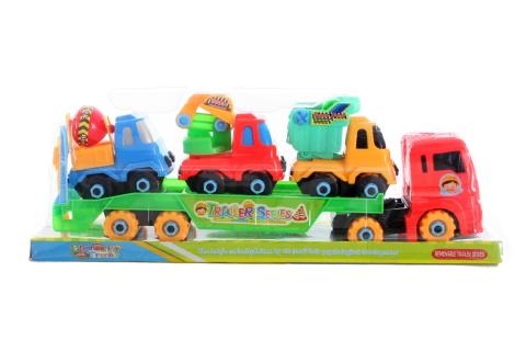 Šroubovací stavební auta na kamionu