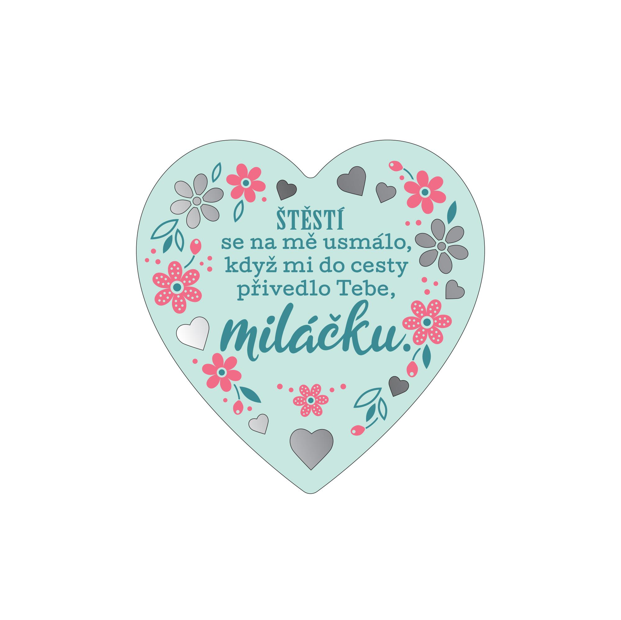 Plaketka srdce - Miláček