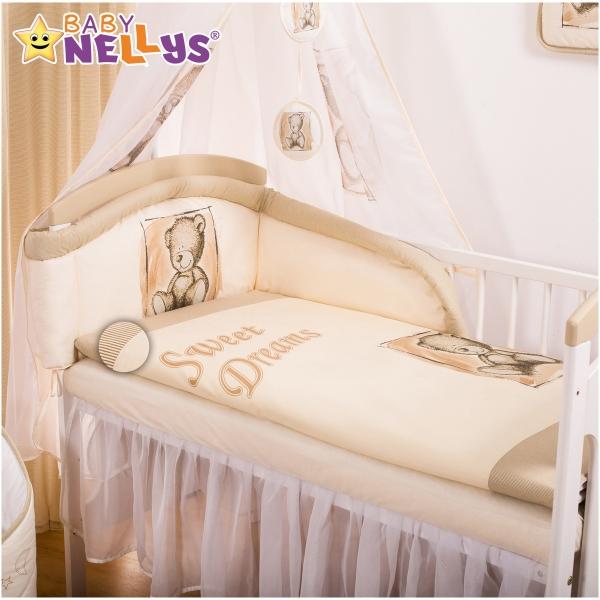 Baby Nellys Mantinel s povlečením Sweet Dreams by Teddy - piskový - 135x100