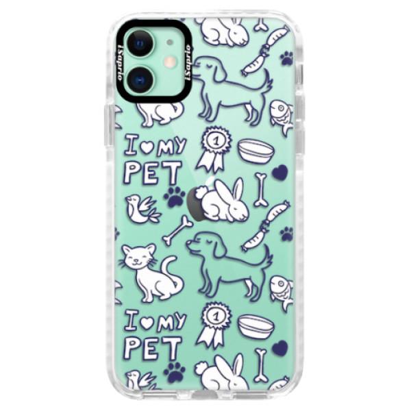 Silikonové pouzdro Bumper iSaprio - Love my pets - iPhone 11