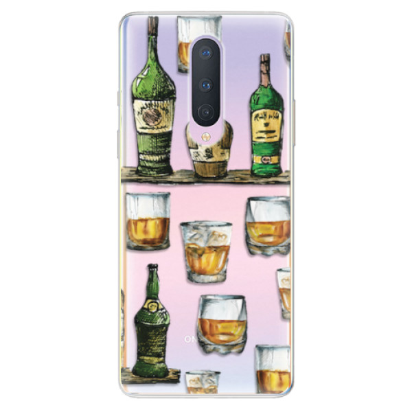 Odolné silikonové pouzdro iSaprio - Whisky pattern - OnePlus 8