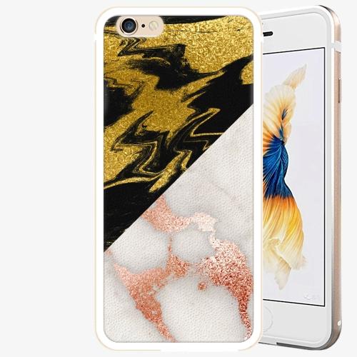 Plastový kryt iSaprio - Shining Marble - iPhone 6 Plus/6S Plus - Gold