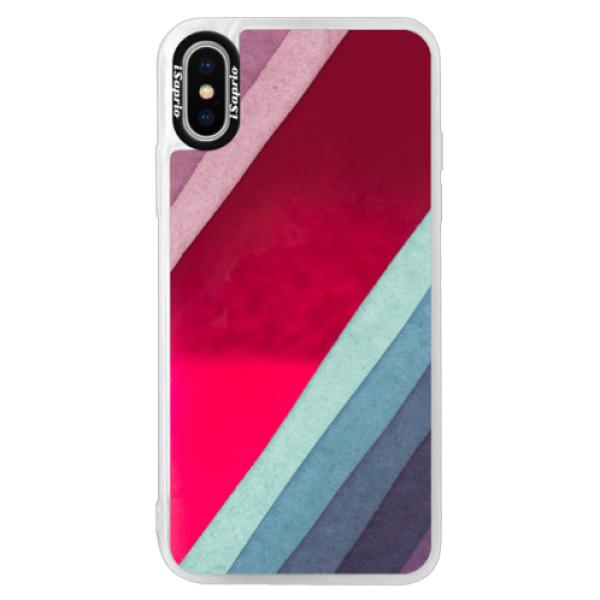 Neonové pouzdro Pink iSaprio - Glitter Stripes 01 - iPhone X
