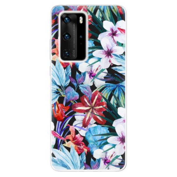 Odolné silikonové pouzdro iSaprio - Tropical Flowers 05 - Huawei P40 Pro