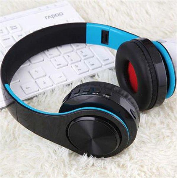 Bluetooth náhlavní sluchátka Tourya B7 - Černá-modrá