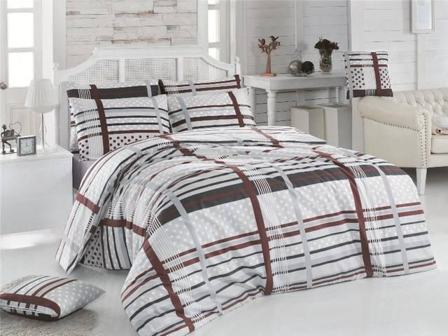 Prodloužené povlečení bavlna 140x220, 70x90cm Monty natur, Výběr zapínání: