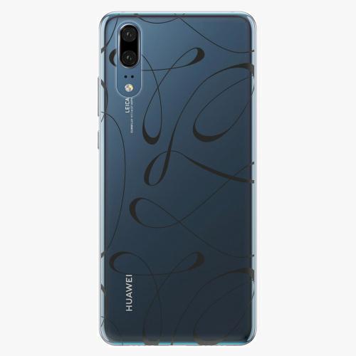 Silikonové pouzdro iSaprio - Fancy - black - Huawei P20