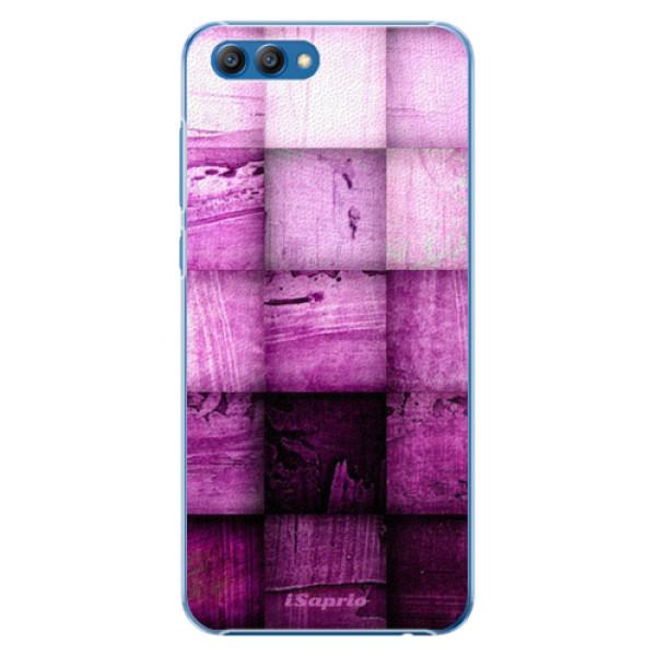 Plastové pouzdro iSaprio - Purple Squares - Huawei Honor View 10