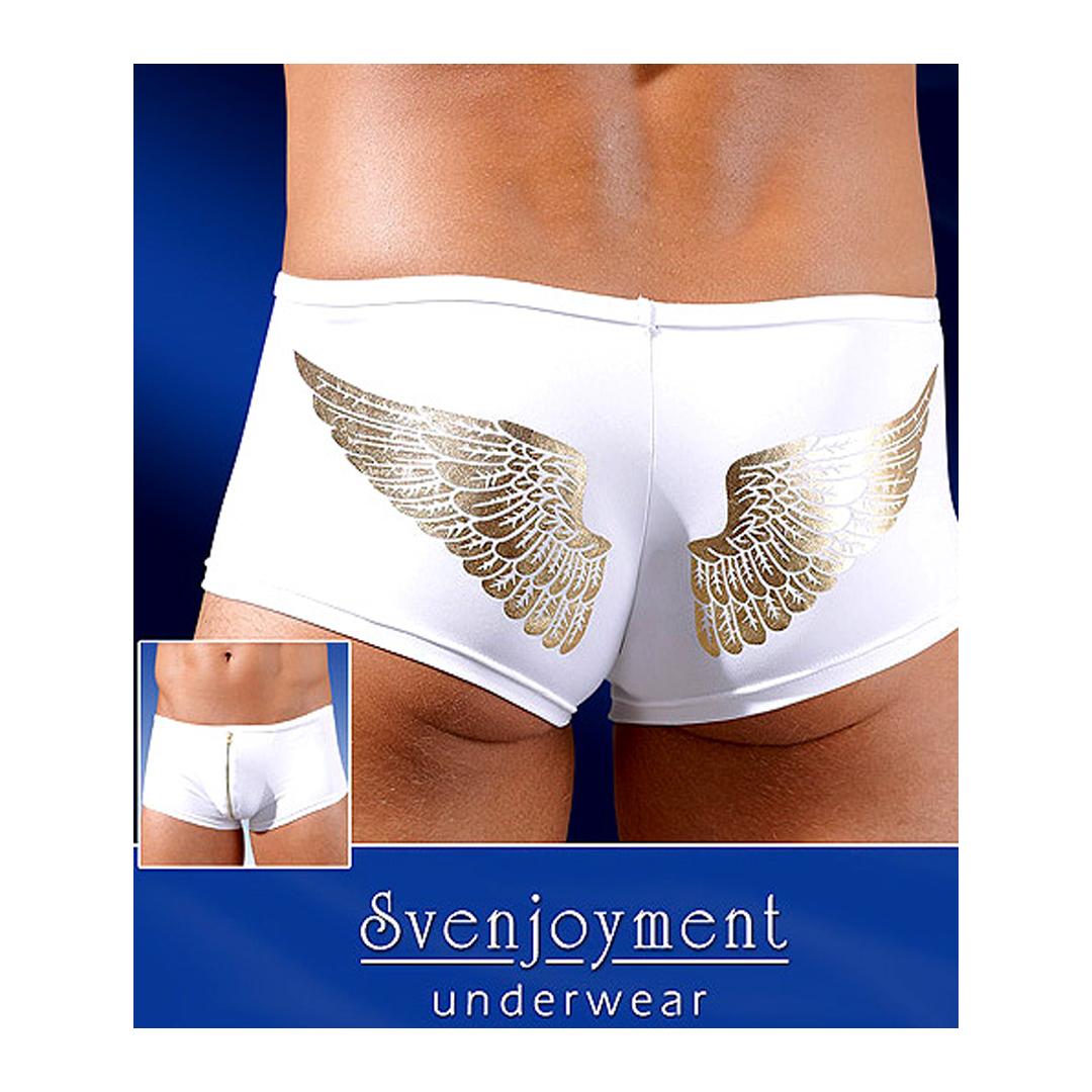 Bílé boxerky se zlatým vzorem Angelo (S, M, L, XL)