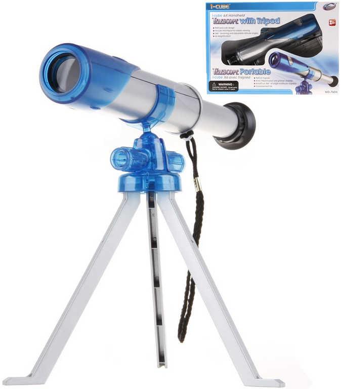 Teleskop dětský hvězdářský set se stativem tripod zvětšení 6X v krabici