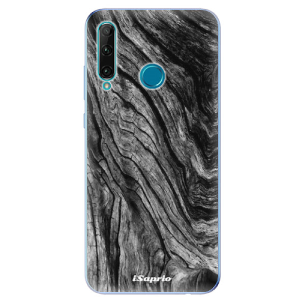 Odolné silikonové pouzdro iSaprio - Burned Wood - Honor 20e