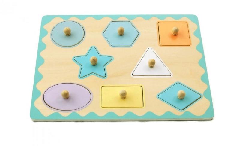 Adam Toys Edukační vkládačka s úchyty - tvary