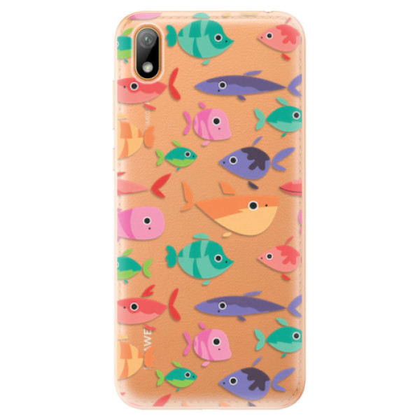 Odolné silikonové pouzdro iSaprio - Fish pattern 01 - Huawei Y5 2019