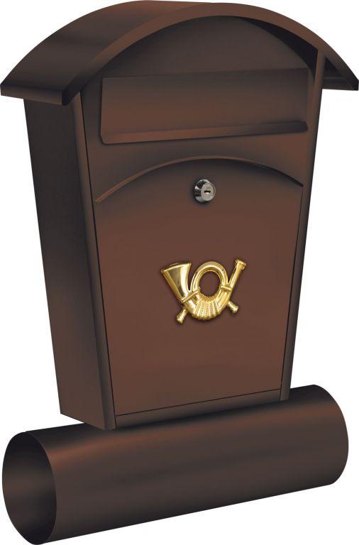 Poštovní schránka se stříškou oblou + zásobník na noviny