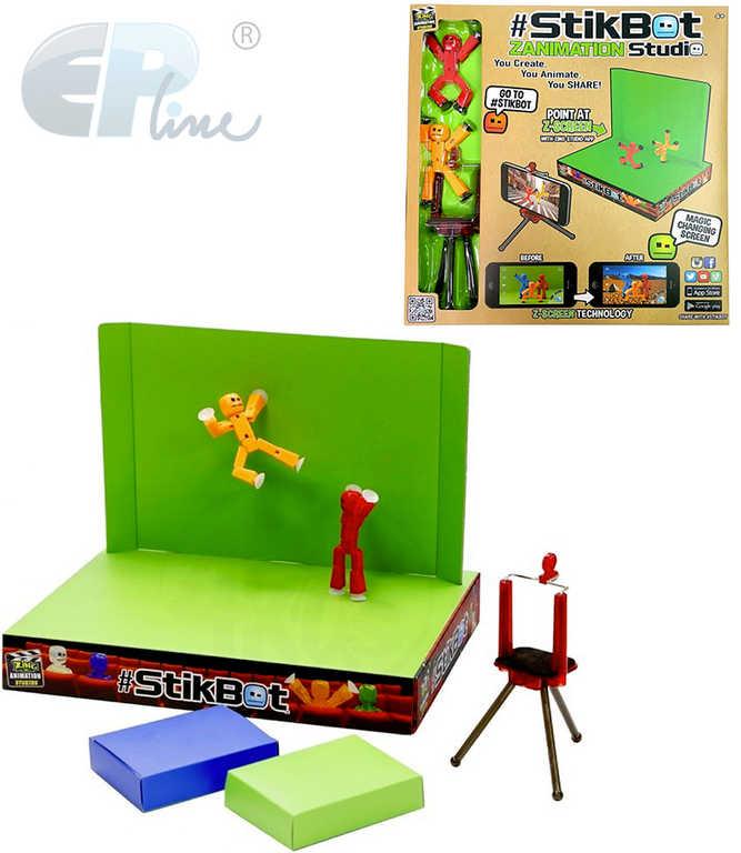EP Line Stikbot studio sada 2 figurky s klíčovacím pozadím a stativem