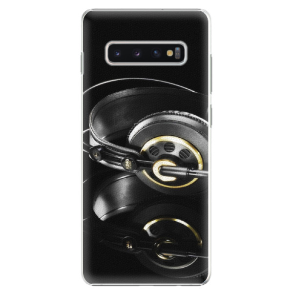Plastové pouzdro iSaprio - Headphones 02 - Samsung Galaxy S10+