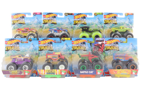 Hot Wheels Monster trucks kaskadérské kousky FYJ44