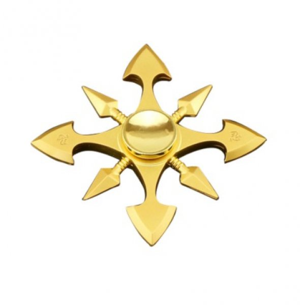 Fidget Spinner Metal GOLD FLAKE