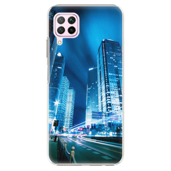 Plastové pouzdro iSaprio - Night City Blue - Huawei P40 Lite