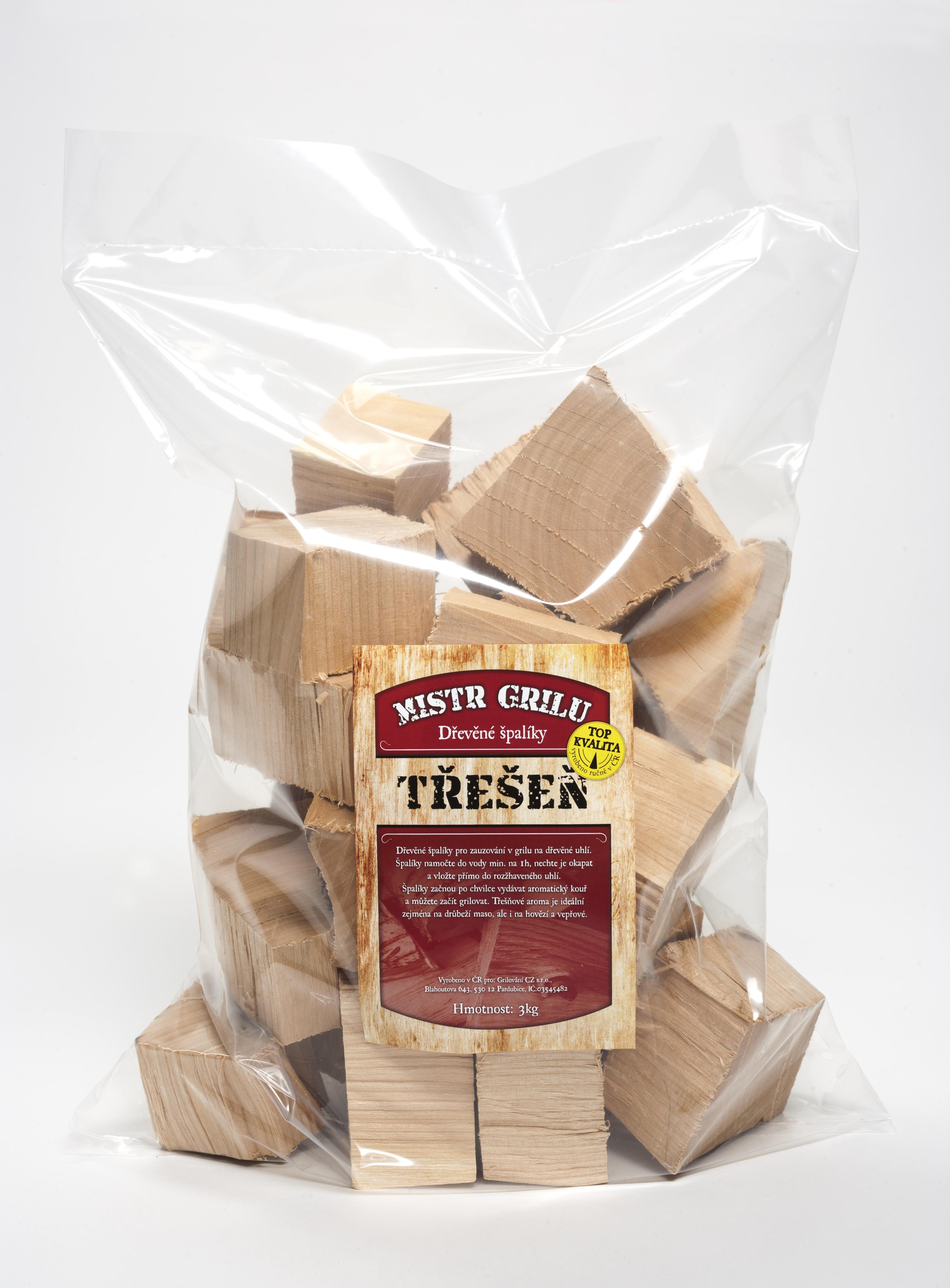 Dřevěné špalíky k uzení 3kg - TŘEŠEŇ