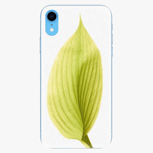 Silikonové pouzdro iSaprio - Green Leaf - iPhone XR