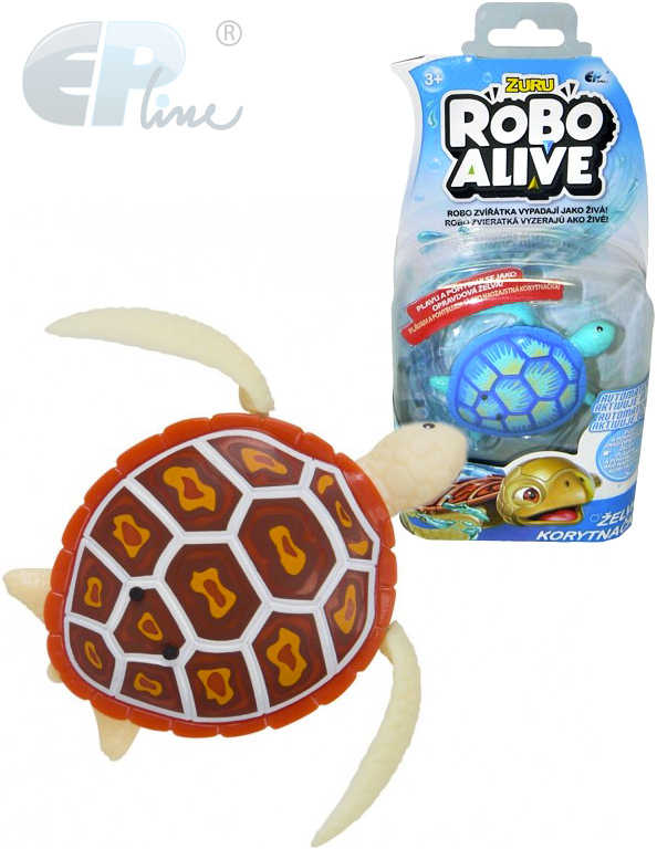 EP Line Robo Alive želva na baterie plave ve vodě chodí po souši - 2 druhy