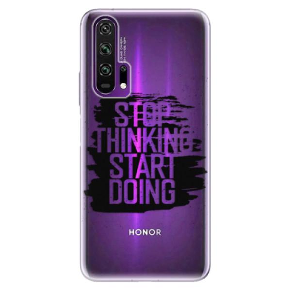 Odolné silikonové pouzdro iSaprio - Start Doing - black - Honor 20 Pro