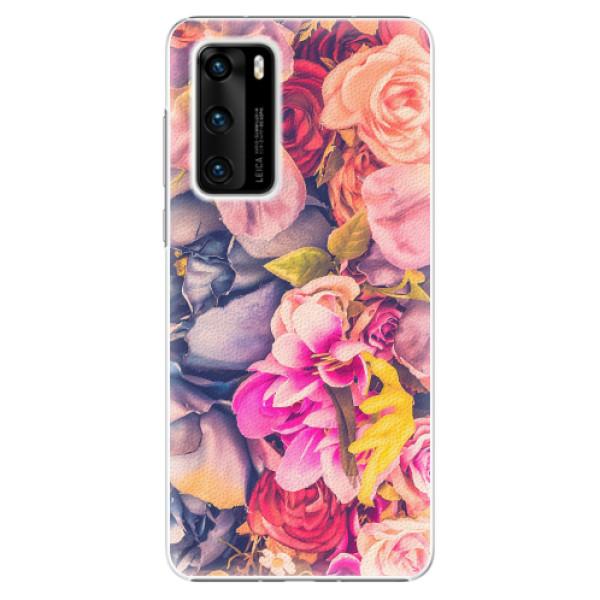 Plastové pouzdro iSaprio - Beauty Flowers - Huawei P40