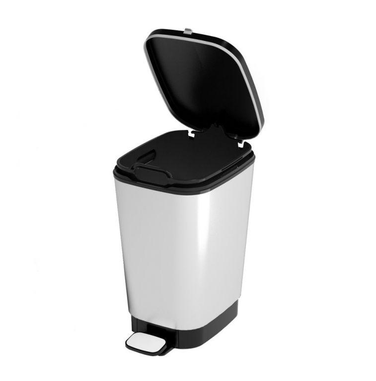 Odpadkový koš CHIC 10 L - stříbrný