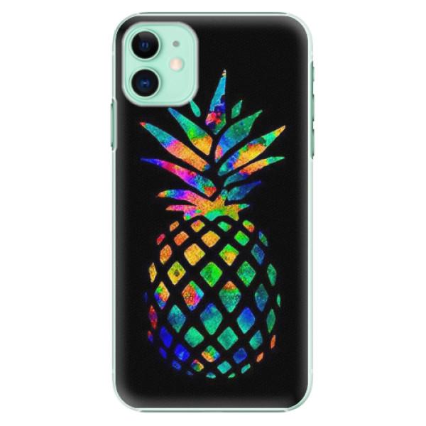 Plastové pouzdro iSaprio - Rainbow Pineapple - iPhone 11
