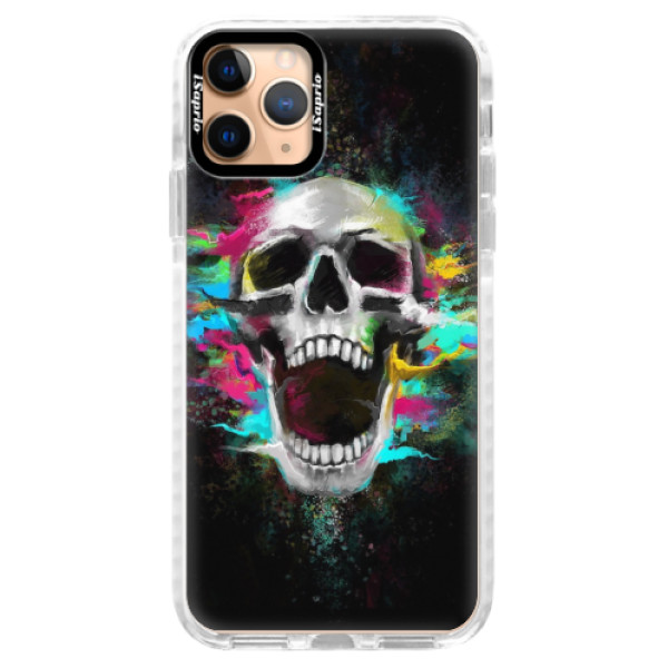Silikonové pouzdro Bumper iSaprio - Skull in Colors - iPhone 11 Pro