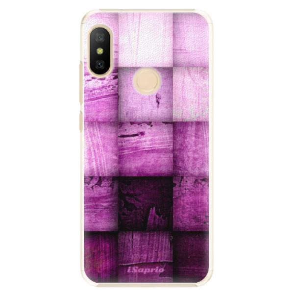 Plastové pouzdro iSaprio - Purple Squares - Xiaomi Mi A2 Lite