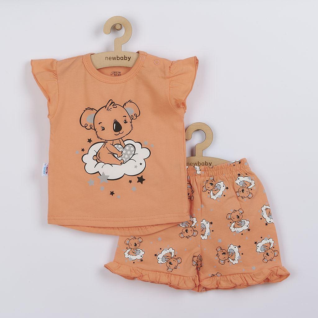 Dětské letní pyžamko New Baby Dream lososové - dle - obrázku/80 (9-12m)
