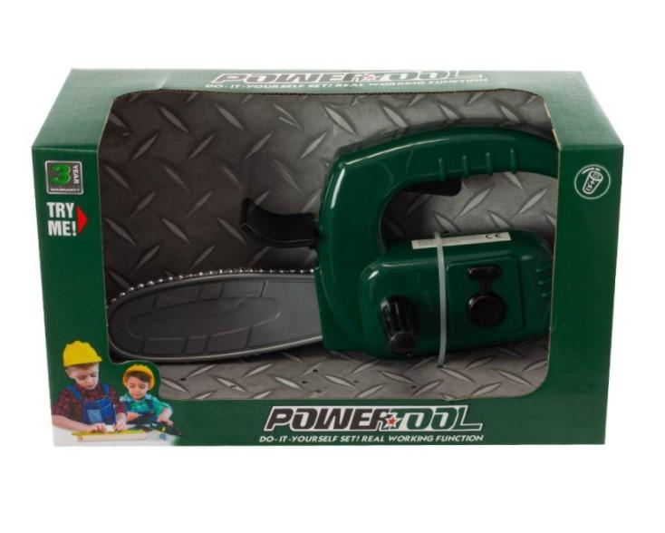 Tulimi dětská motorová pila na baterie - zelená
