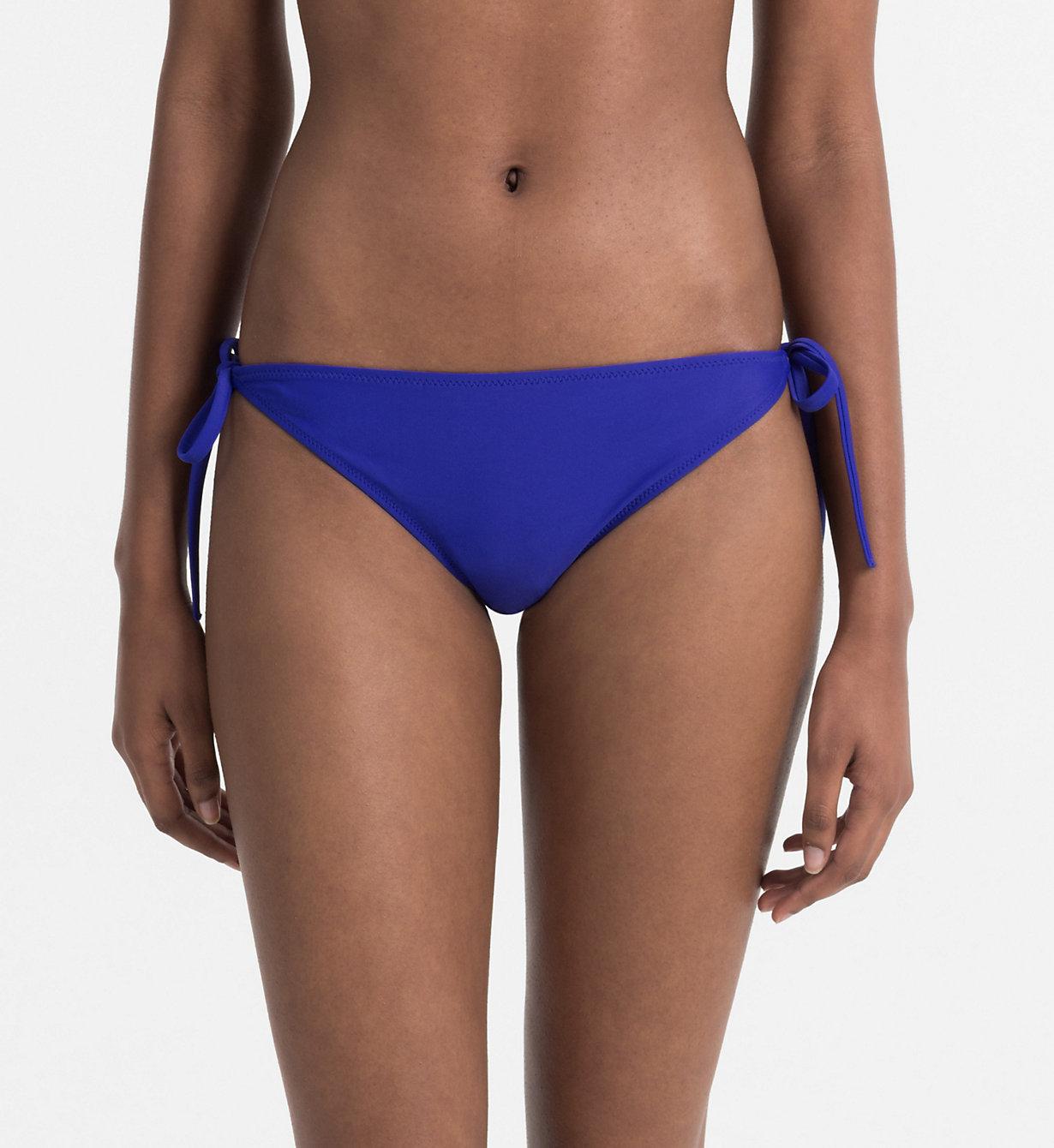 Spodní díl plavek KW0KW00085-038 modrá - Calvin Klein - Modrá/XS