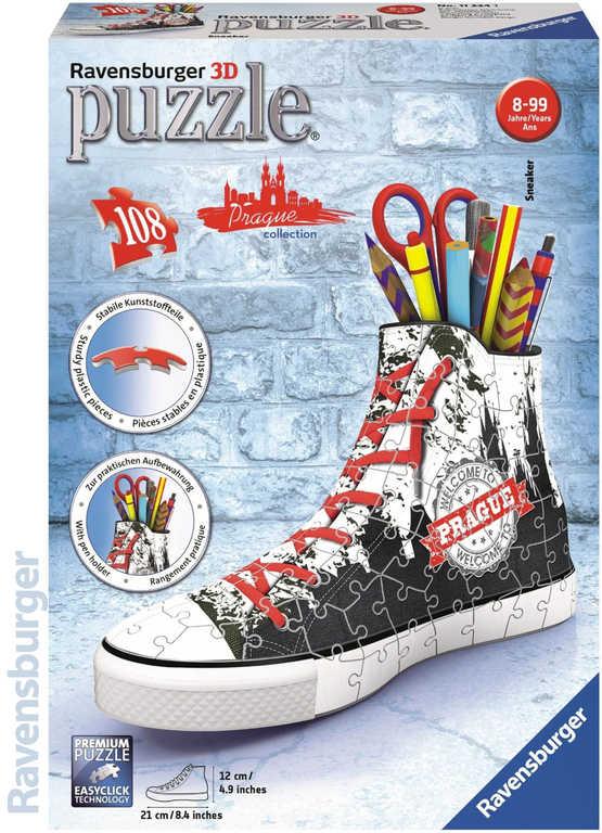 RAVENSBURGER Puzzle 3D Kecka Praha stojánek vlajková edice 108 dílků