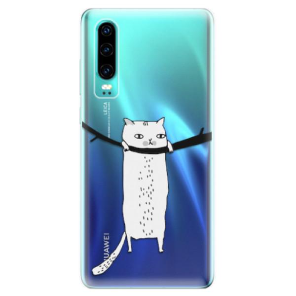 Odolné silikonové pouzdro iSaprio - Hang in there - Huawei P30