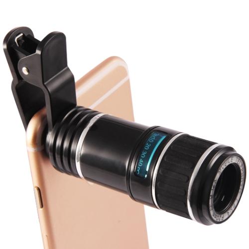 Univerzální objektiv 12x Zoom pro Apple iPhone, Samsung, Sony, HTC, Huawei, Nokia