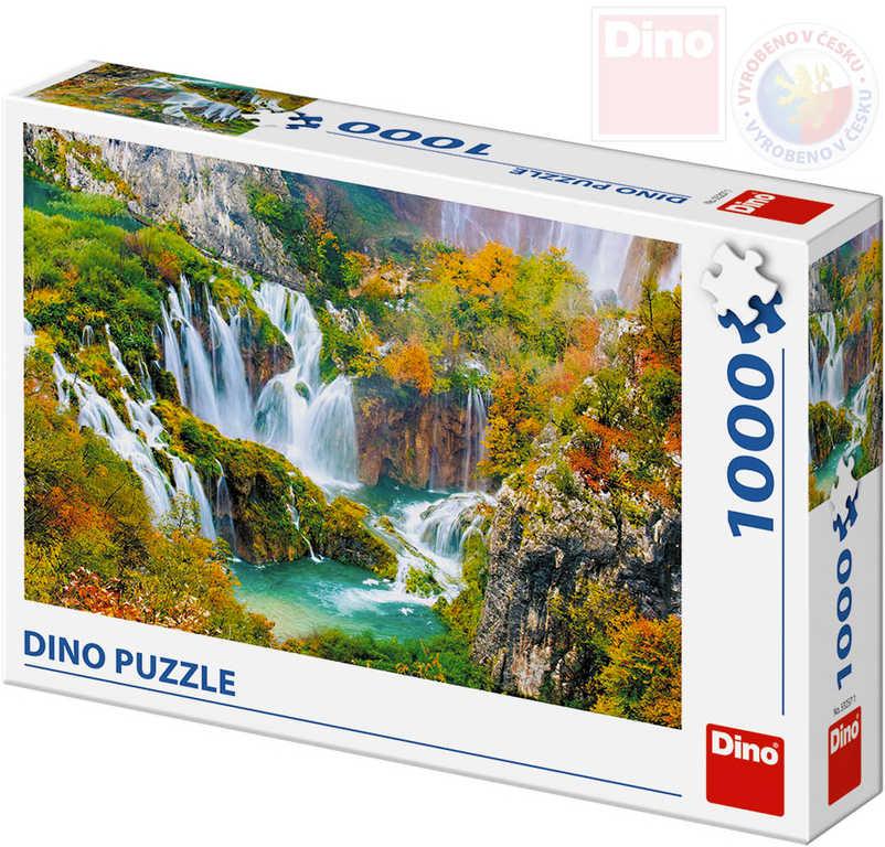 DINO Puzzle 1000 dílků Plitvická jezera 66x47cm skládačka v krabici