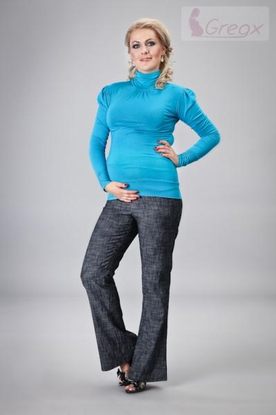 gregx-elegantni-tehotenske-kalhoty-jeans-granatovy-melir-xl-42
