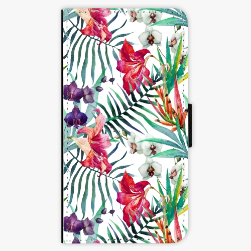 Flipové pouzdro iSaprio - Flower Pattern 03 - Samsung Galaxy J3 2017
