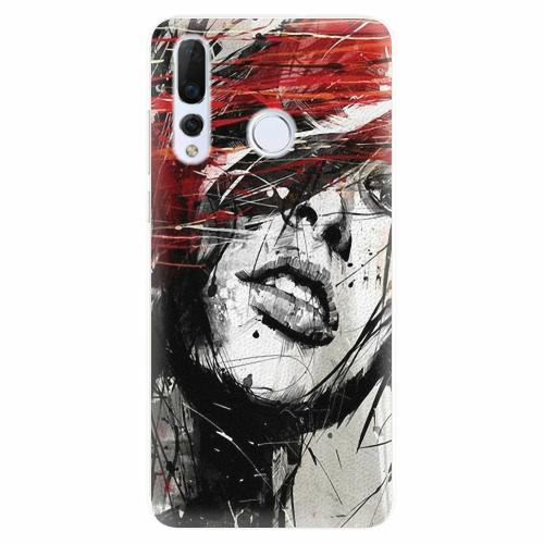 Silikonové pouzdro iSaprio - Sketch Face - Huawei Nova 4