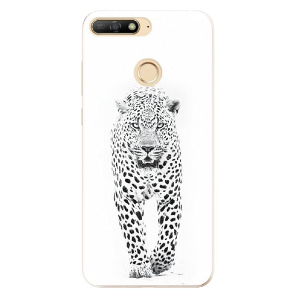 Odolné silikonové pouzdro iSaprio - White Jaguar - Huawei Y6 Prime 2018